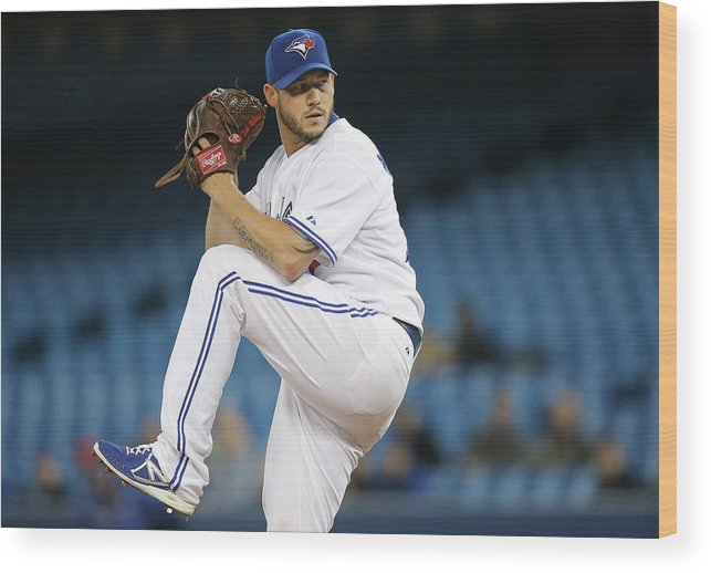 Second Inning Wood Print featuring the photograph Jay Rogers by Tom Szczerbowski