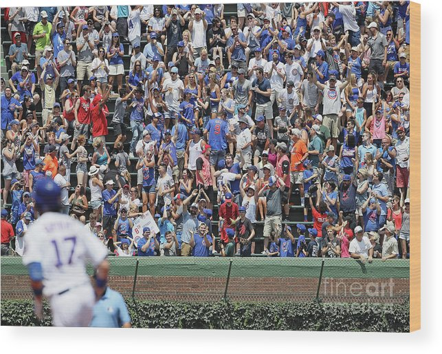 People Wood Print featuring the photograph Kris Bryant by Jonathan Daniel