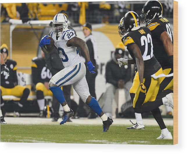 People Wood Print featuring the photograph Indianapolis Colts v Pittsburgh Steelers by Joe Sargent