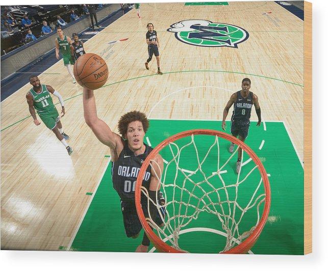 Nba Pro Basketball Wood Print featuring the photograph Aaron Gordon by Glenn James