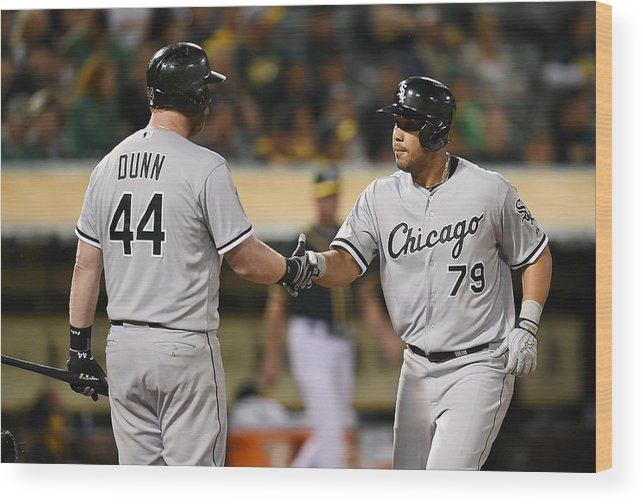 Ninth Inning Wood Print featuring the photograph Adam Dunn by Thearon W. Henderson