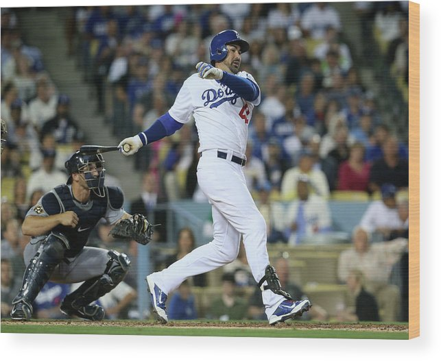 Second Inning Wood Print featuring the photograph Adrian Gonzalez by Stephen Dunn