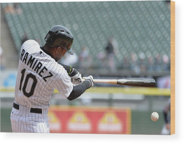 Second Inning Wood Print featuring the photograph Alejandro De Aza and Alexei Ramirez by Brian Kersey