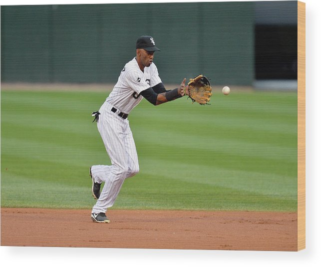 Second Inning Wood Print featuring the photograph Alexei Ramirez by Brian Kersey