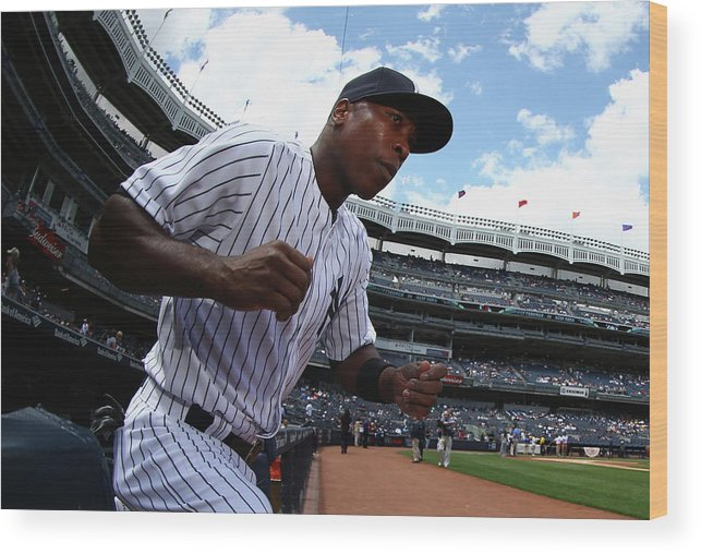 Alfonso Soriano Wood Print featuring the photograph Alfonso Soriano by Al Bello