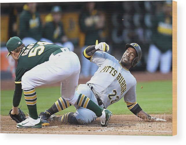 People Wood Print featuring the photograph Andrew Mccutchen and Sonny Gray by Thearon W. Henderson