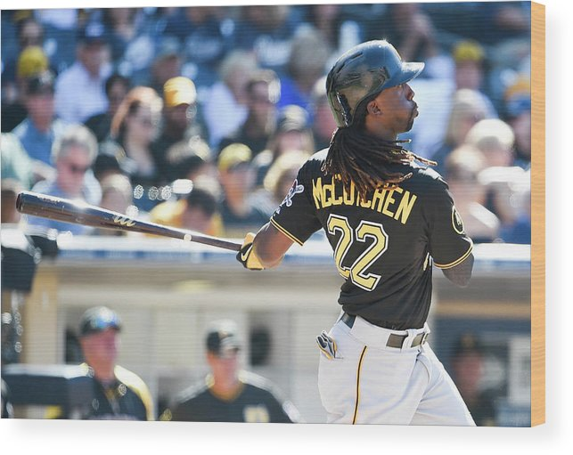 California Wood Print featuring the photograph Andrew Mccutchen by Denis Poroy