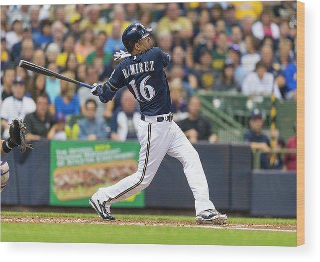 American League Baseball Wood Print featuring the photograph Aramis Ramirez by Tom Lynn