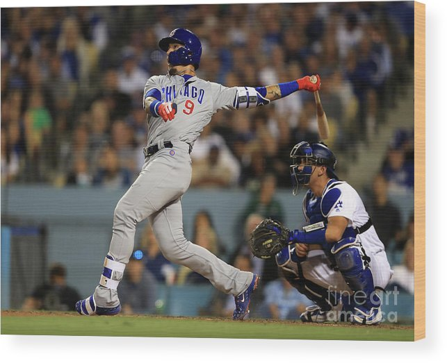 People Wood Print featuring the photograph Austin Barnes and Javier Baez by Sean M. Haffey