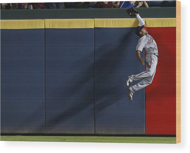 Atlanta Wood Print featuring the photograph Ben Revere and Freddie Freeman by Mike Zarrilli