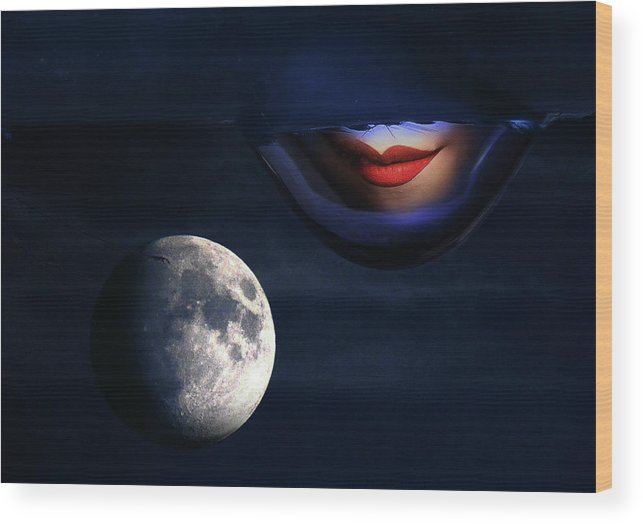 Wood Print featuring the photograph Blood Moon by Jim Painter