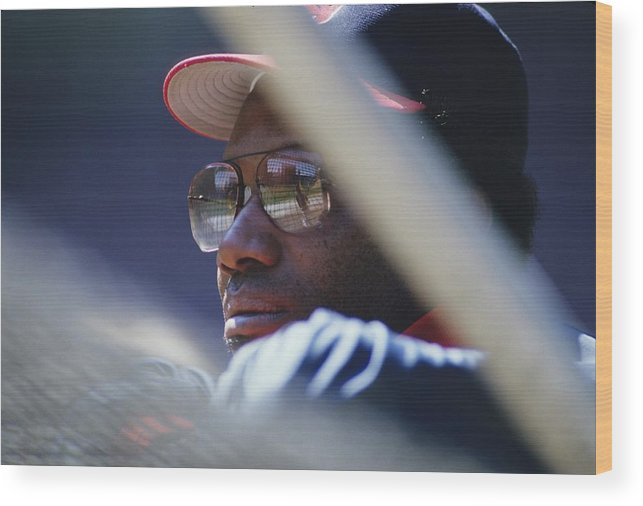 1980-1989 Wood Print featuring the photograph Bobby Bonds by Ronald C. Modra/sports Imagery