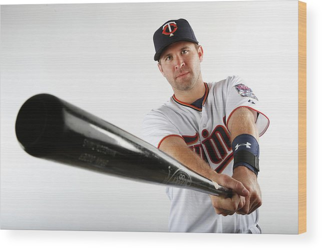 Media Day Wood Print featuring the photograph Brian Dozier by Brian Blanco