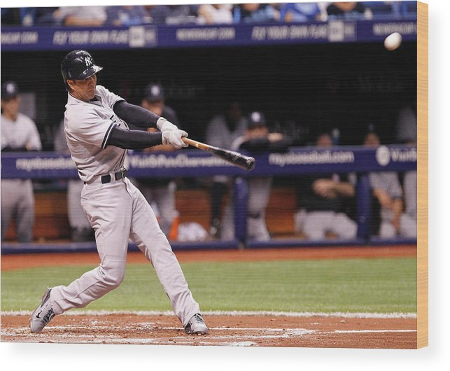 Second Inning Wood Print featuring the photograph Brian Roberts by Brian Blanco