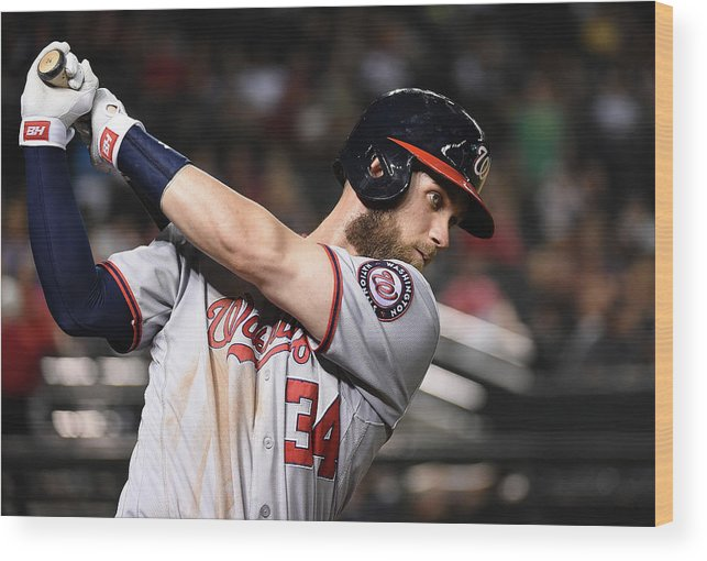 People Wood Print featuring the photograph Bryce Harper by Norm Hall