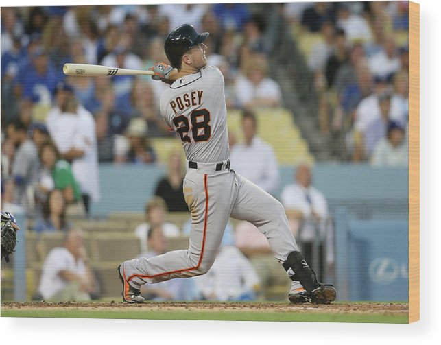 People Wood Print featuring the photograph Buster Posey by Stephen Dunn