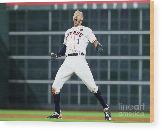 Game Two Wood Print featuring the photograph Carlos Correa by Elsa