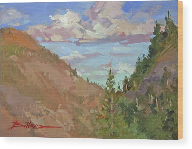 Montana Mountains Wood Print featuring the painting Carson Canyon by Betty Jean Billups