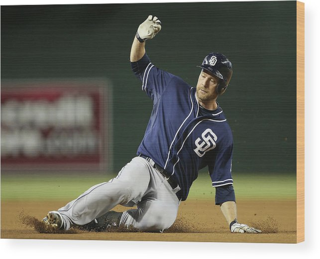 Motion Wood Print featuring the photograph Chase Headley by Christian Petersen