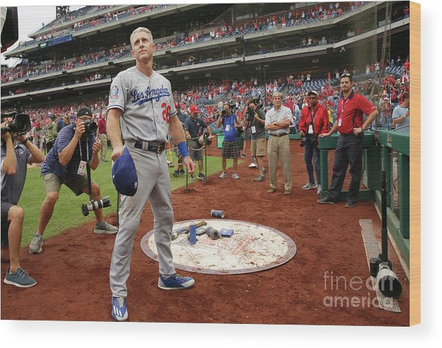 People Wood Print featuring the photograph Chase Utley by Hunter Martin