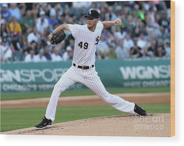 Second Inning Wood Print featuring the photograph Chris Sale by Dylan Buell