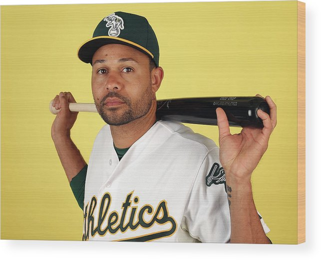 Media Day Wood Print featuring the photograph Coco Crisp by Christian Petersen