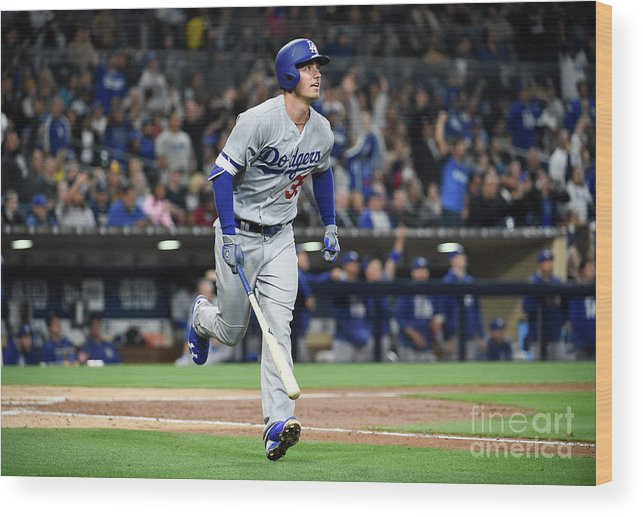 People Wood Print featuring the photograph Cody Bellinger by Denis Poroy