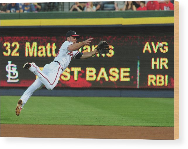 Atlanta Wood Print featuring the photograph Dan Uggla by Scott Cunningham