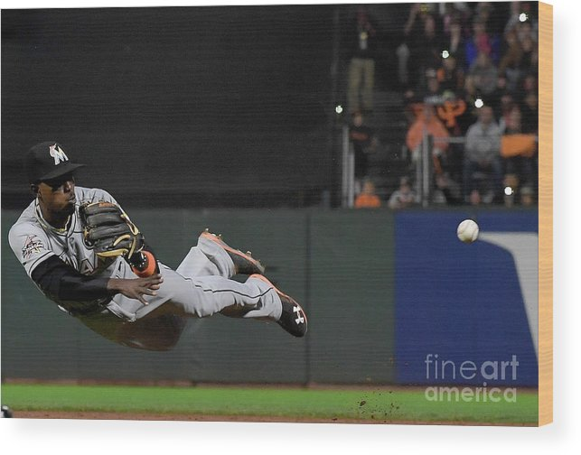San Francisco Wood Print featuring the photograph Dee Gordon and Brandon Crawford by Thearon W. Henderson