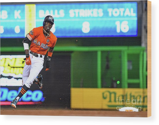 People Wood Print featuring the photograph Dee Gordon by Mark Brown