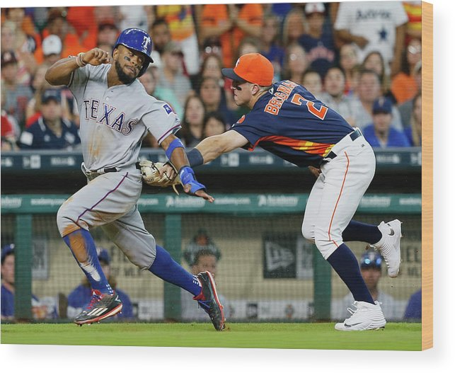 Alex Bregman Wood Print featuring the photograph Delino Deshields by Bob Levey