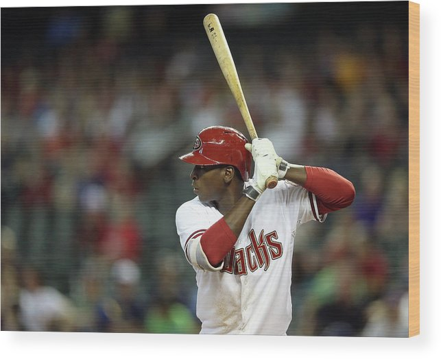 National League Baseball Wood Print featuring the photograph Didi Gregorius by Christian Petersen