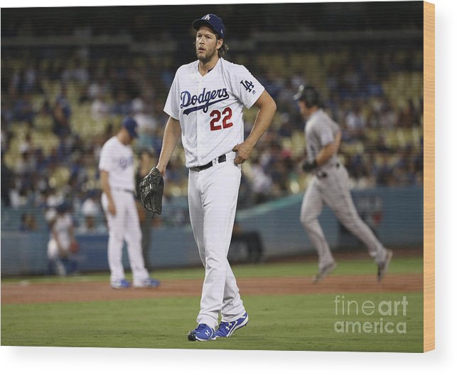 People Wood Print featuring the photograph Dj Lemahieu and Clayton Kershaw by Victor Decolongon