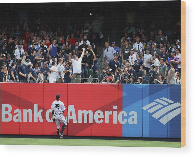 People Wood Print featuring the photograph Domingo Santana and Aaron Judge by Al Bello