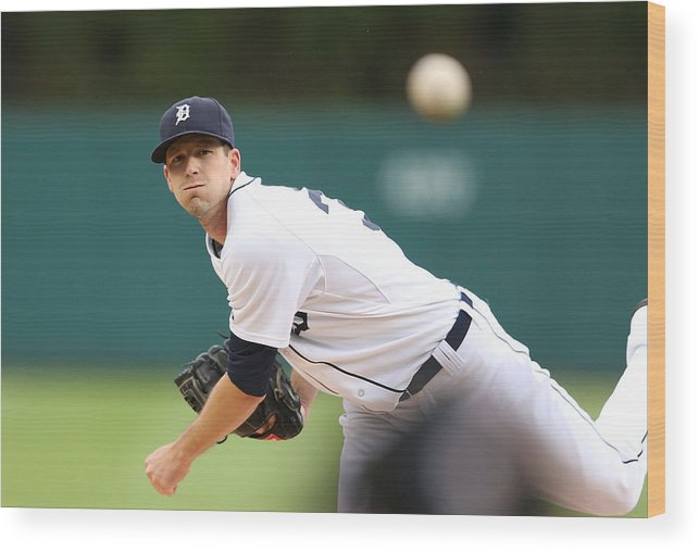 American League Baseball Wood Print featuring the photograph Drew Smyly by Leon Halip