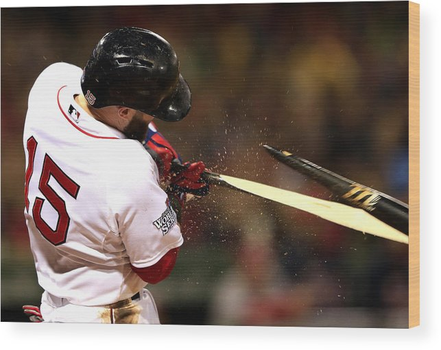St. Louis Cardinals Wood Print featuring the photograph Dustin Pedroia by Jamie Squire