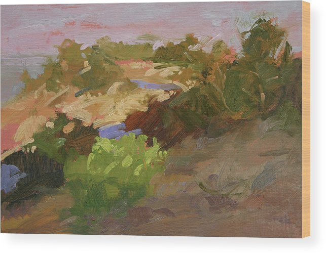 Sunrise Paintings Wood Print featuring the painting Early Sunrise by Betty Jean Billups