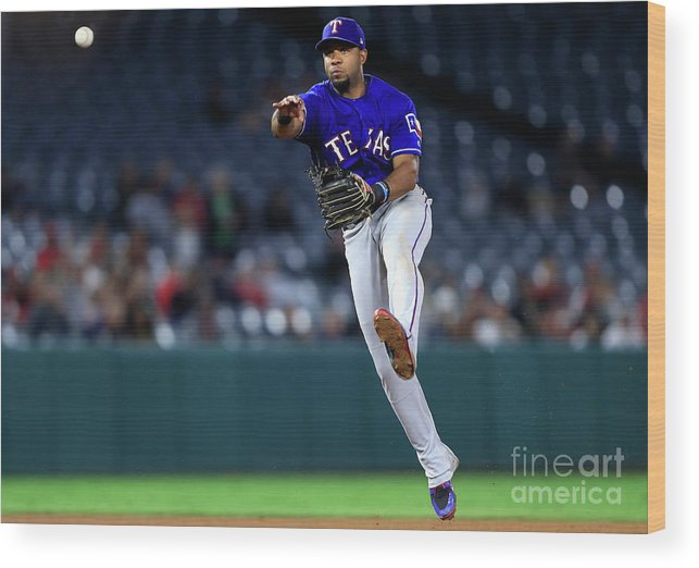 People Wood Print featuring the photograph Elvis Andrus by Sean M. Haffey