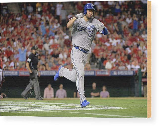 Game Two Wood Print featuring the photograph Eric Hosmer by Harry How