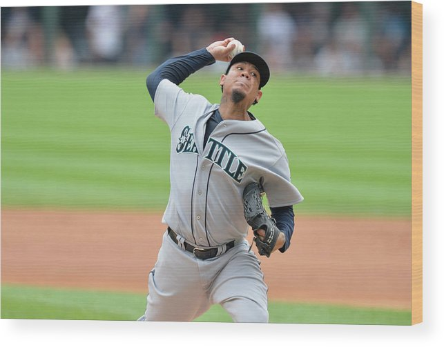 People Wood Print featuring the photograph Felix Hernandez by Brian Kersey