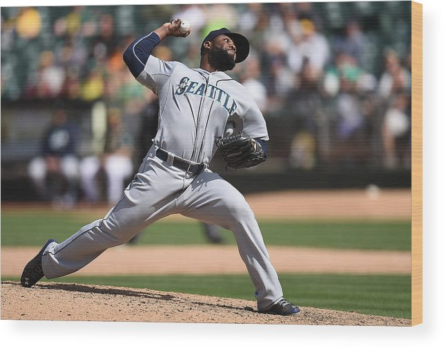 American League Baseball Wood Print featuring the photograph Fernando Rodney by Thearon W. Henderson