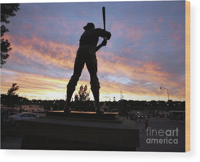 People Wood Print featuring the photograph Hank Aaron by Icon Sports Wire