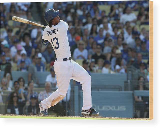 California Wood Print featuring the photograph Hanley Ramirez by Stephen Dunn