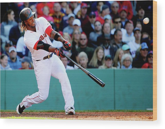 People Wood Print featuring the photograph Hanley Ramirez by Winslow Townson