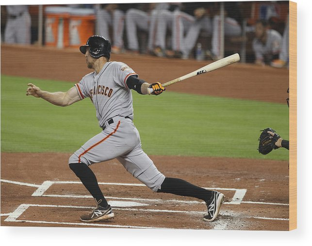 American League Baseball Wood Print featuring the photograph Hunter Pence by Marc Serota