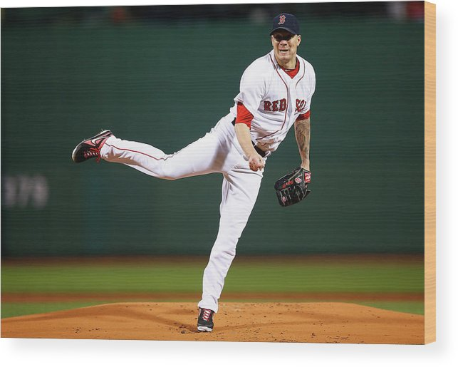 People Wood Print featuring the photograph Jake Peavy by Jared Wickerham