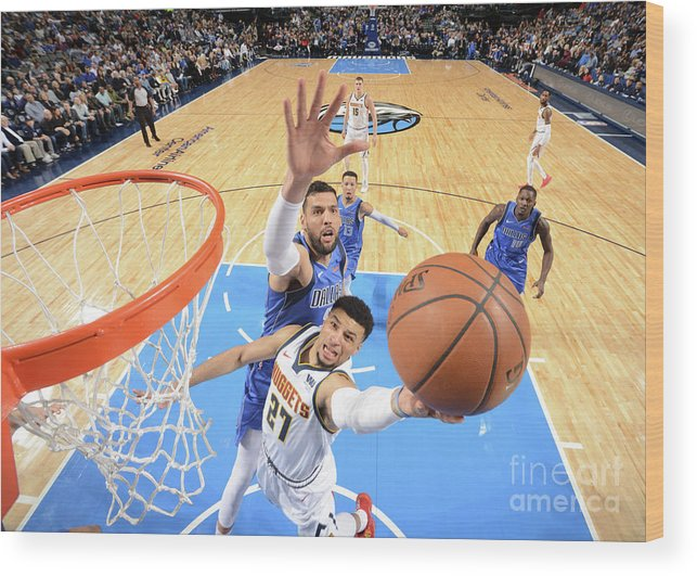 Nba Pro Basketball Wood Print featuring the photograph Jamal Murray by Glenn James