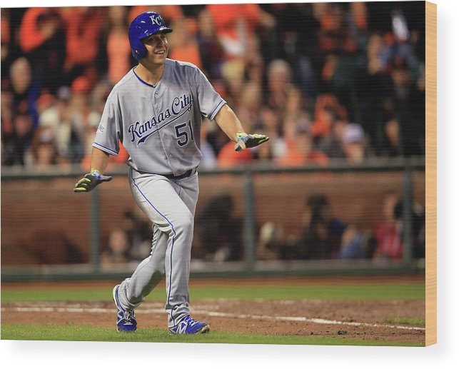 San Francisco Wood Print featuring the photograph Jason Vargas by Jamie Squire