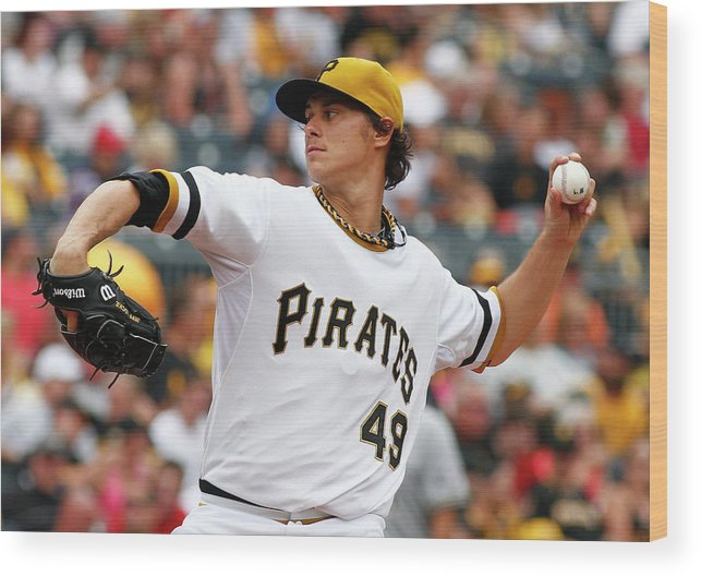 Professional Sport Wood Print featuring the photograph Jeff Locke by Justin K. Aller