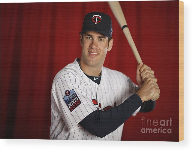 Media Day Wood Print featuring the photograph Joe Mauer by Gregory Shamus